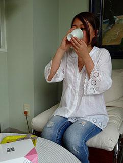 Step2  発酵排毒茶を飲む